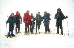 on top of Mt. Pierce in snow